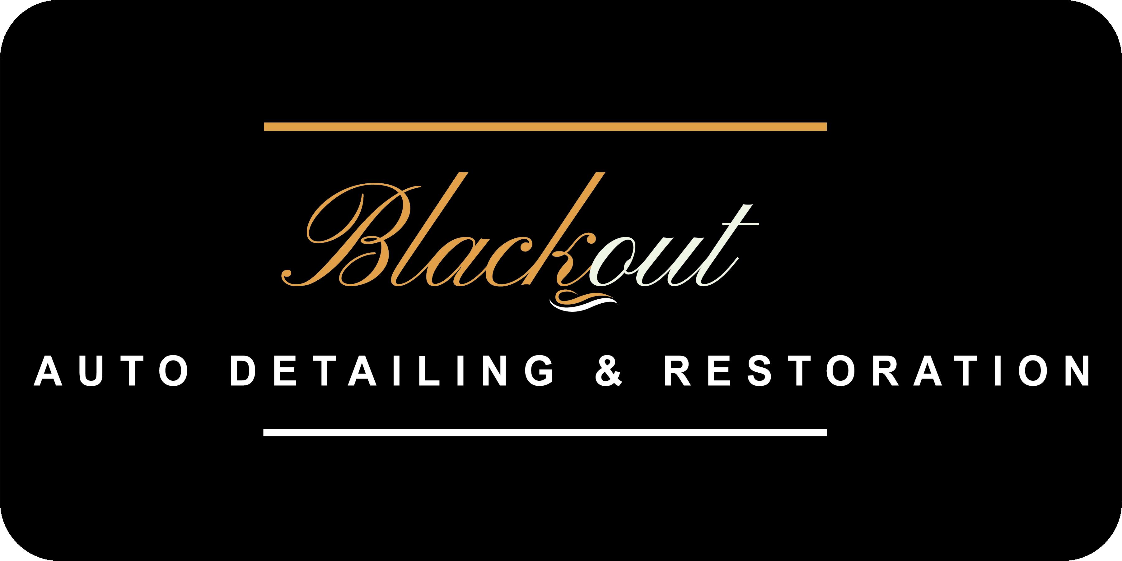 Blackout Auto Detailing and Restoration